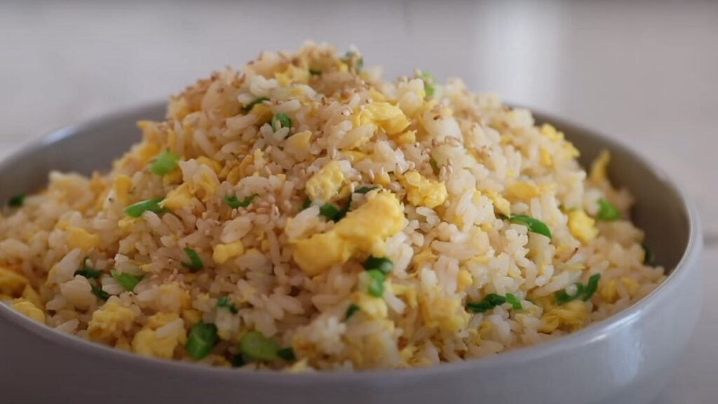 Sesame fried rice