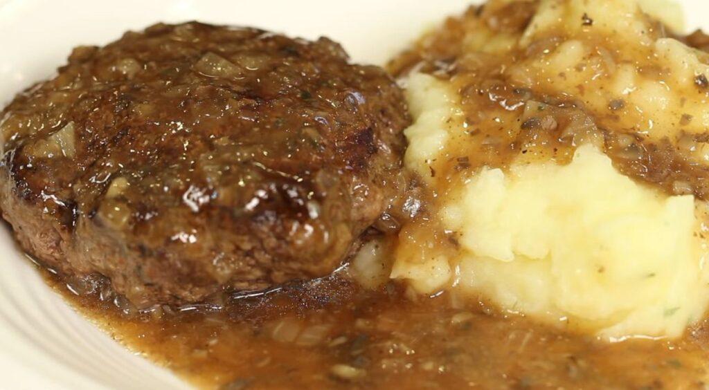Instant pot Swiss steak with mushroom gravy
