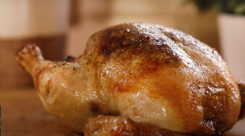 TARRAGON CHICKEN WITH QUICK-ROASTED GARLIC