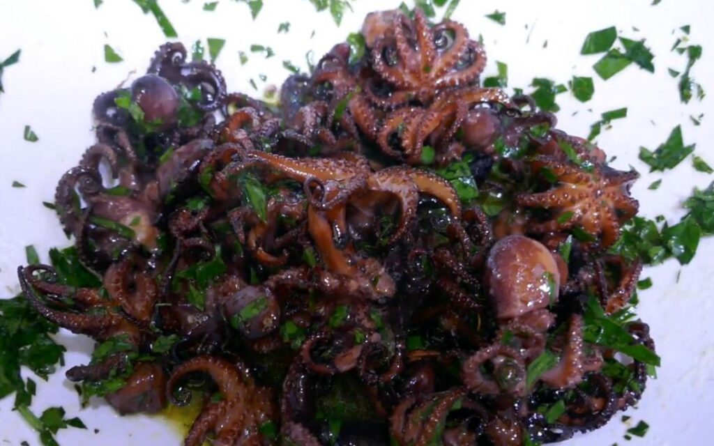 FRIED OCTOPUS WITH GREMOLATA