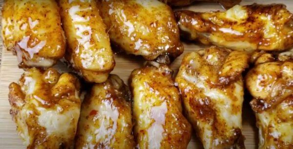 Air fryer frozen chicken wings