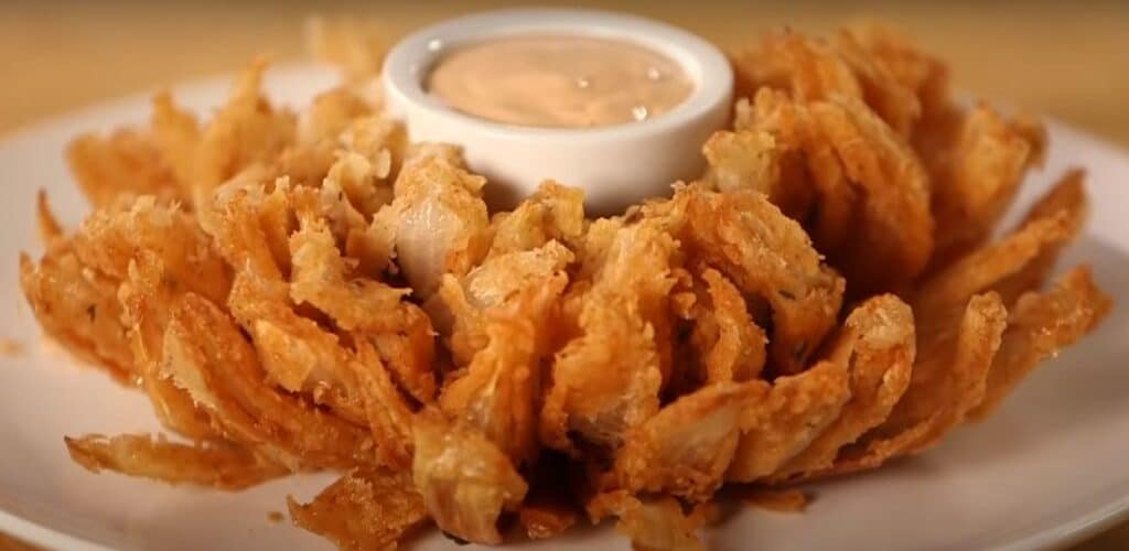 Naked Onion Rings with Bloomin onion sauce