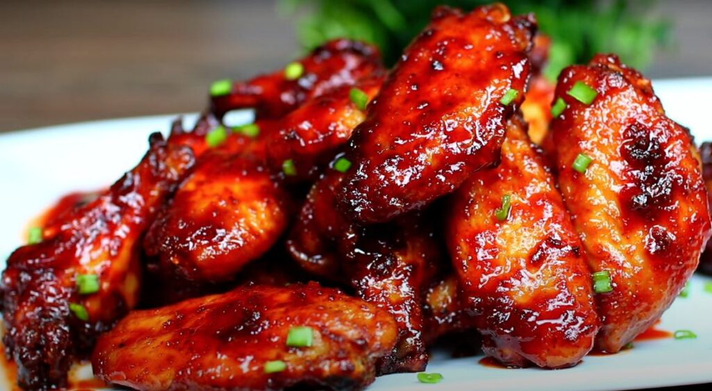 Honey Sriracha BBQ Chicken wings