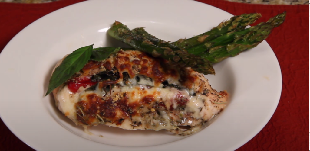 Roasted Red Pepper Chicken with Almonds
