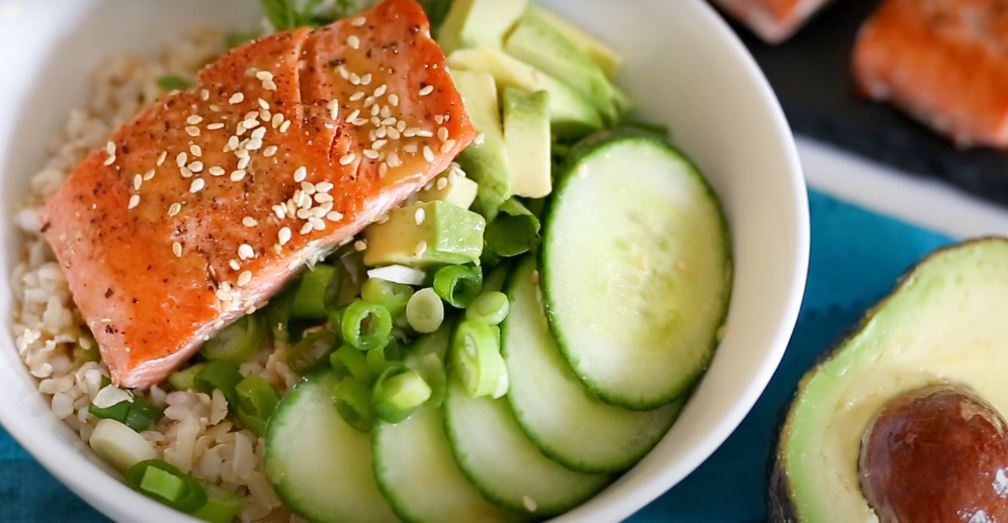 Veggie Rice Bowls with Salmon