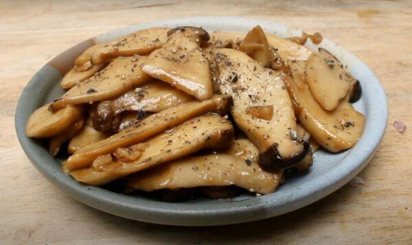 King oyster mushroom pan-fried recipe