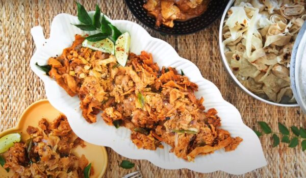 Kothu parotta with the chicken recipe