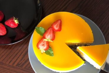 Mango Mousse Cake Homemade recipe