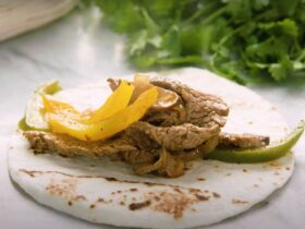 Pressure cooker steak fajitas recipe