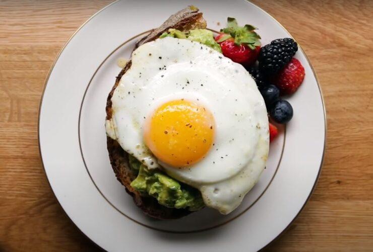 Over medium eggs